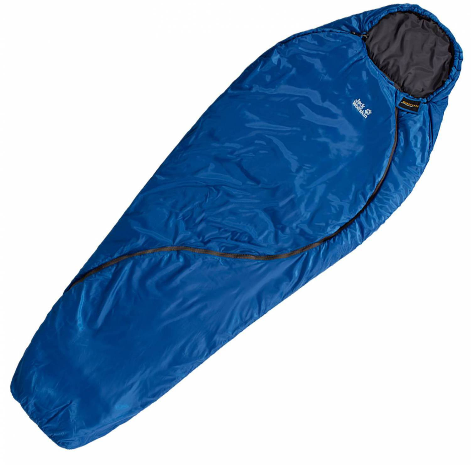 Jack Wolfskin Smoozip +3 Schlafsack (Farbe: 1127 classic blue, links)