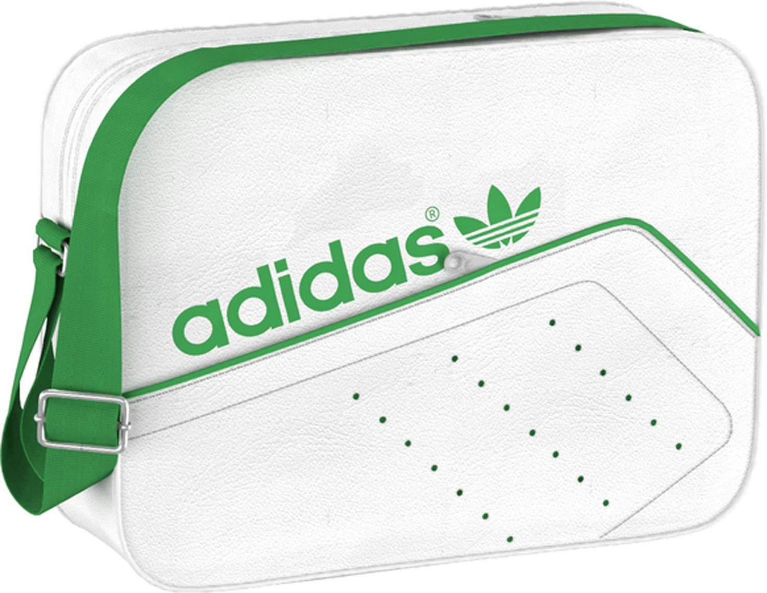 adidas Airliner Perforated Umhängetasche (Farbe: white/green)