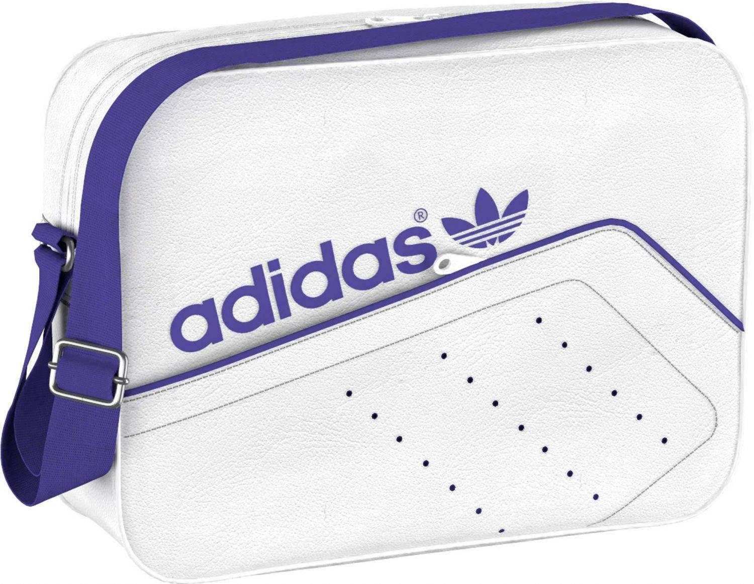 adidas Airliner Perforated Tasche (Farbe: white/night flash s15)