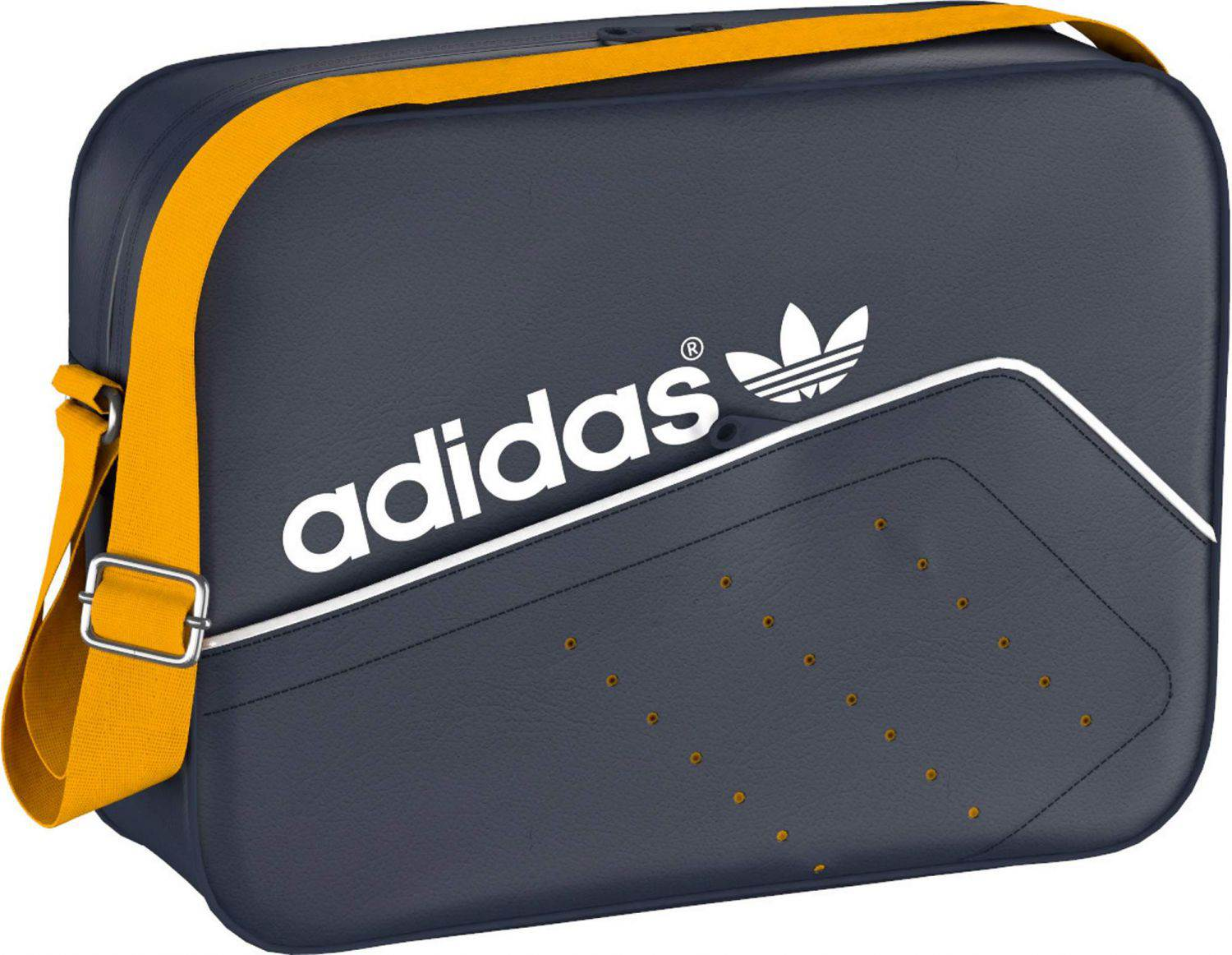 adidas Airliner Perforated Tasche (Farbe: collegiate navy/collegiate gold/white)
