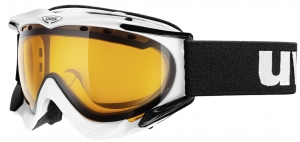 uvex Skibrille Apache (Farbe: 2120 black, double lens spheric smoke (S2))