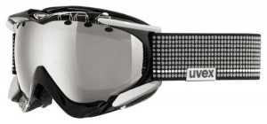 Skibrille uvex Apache Pro (Farbe: 2426 black/blue mat, spheric double lens, litemirror silver (S3))