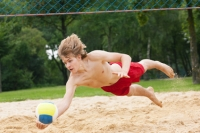 Volleyball, bleib am Ball