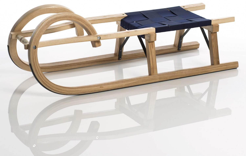Schlitten - Sirch Hörnerschlitten Standard Plus mit Gurtsitz (Länge 100 cm, esche lackiert 2 Bockstützen ) - Onlineshop