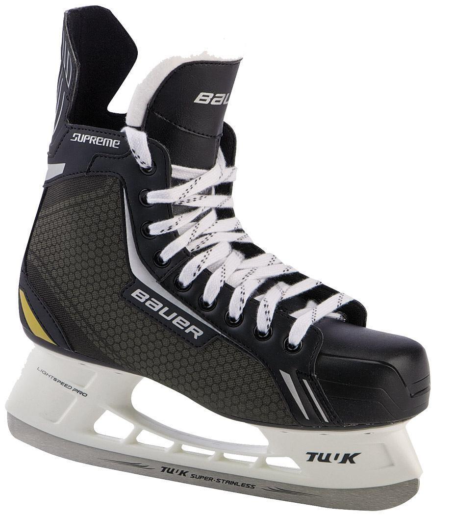 Bauer Supreme One 4 Skate Jr. Kinderschlittschuh (Größe 1.0 = 33.5, 001 schwarz anthrazit)