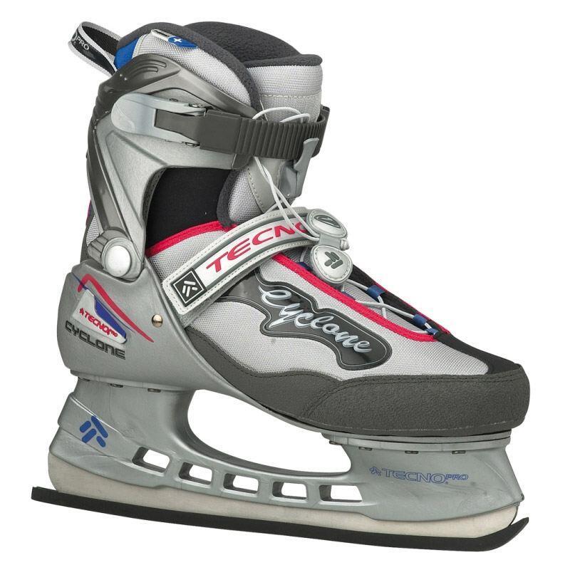 Schlittschuhe - TecnoPro Eishockey Complet Cyclone Man (Größe 37.0, 901 grau rot blau) - Onlineshop
