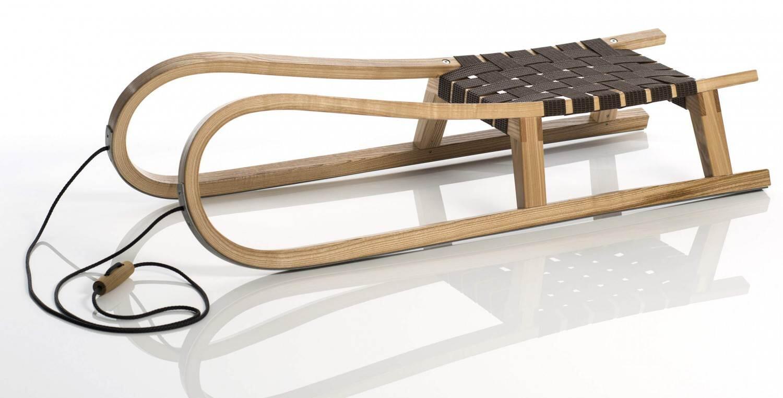 Schlitten - Sirch Abyss H11 mit Gurtsitz Hornrodel (Länge 110 cm, esche lackiert) - Onlineshop