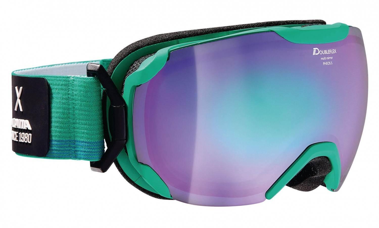 alpina-pheos-small-hm-skibrille-farbe-871-coldgreen-matt-scheibe-mirror-green-