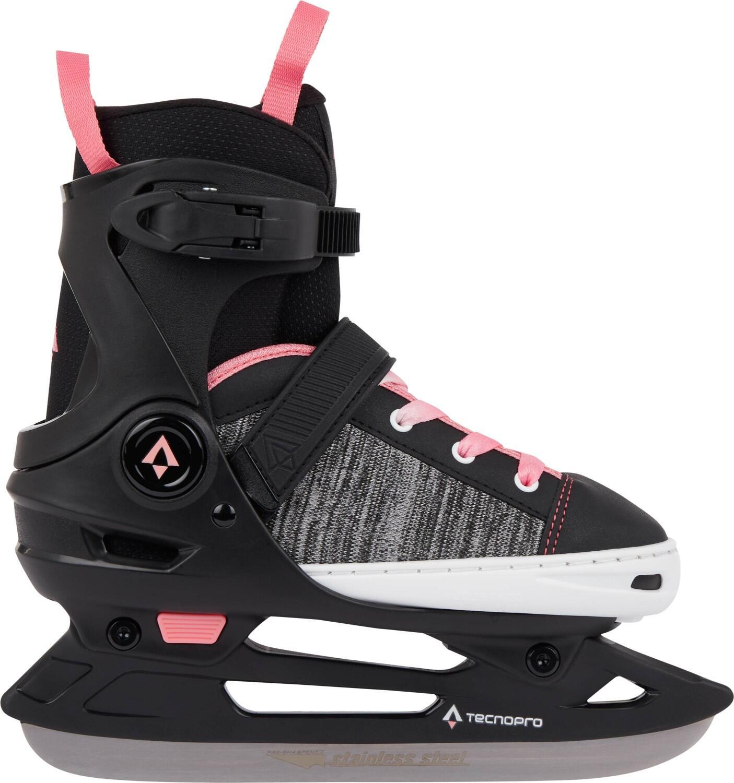 Schlittschuhe - TecnoPro Alpha Soft Girl 2.0 verstellbarer Schlittschuh (Größe 37.0 40.0, 901 schwarz pink) - Onlineshop