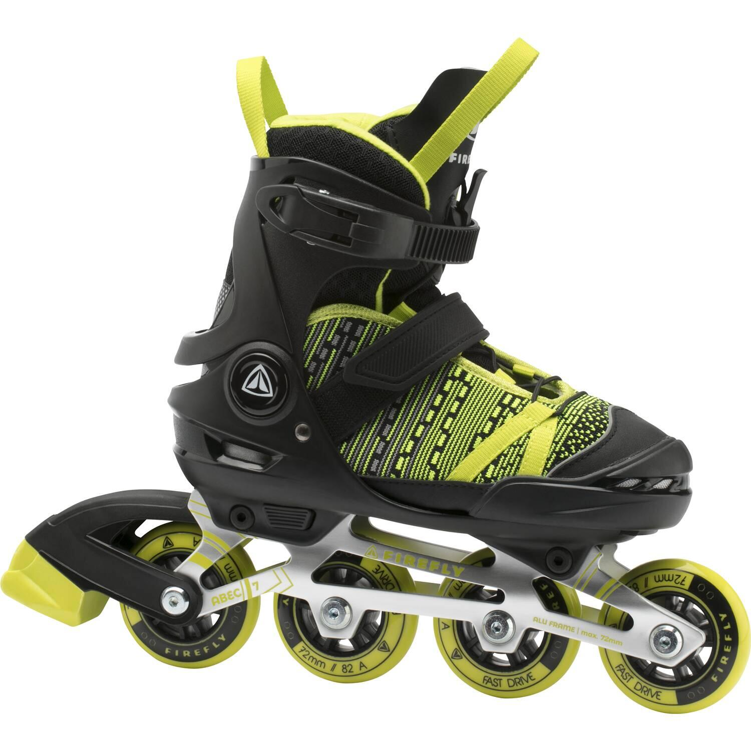 Firefly Kinder Inlineskate 710 Boy (Größe 33.0 36.0 (Rollen 72 mm), 901 black greenlight)