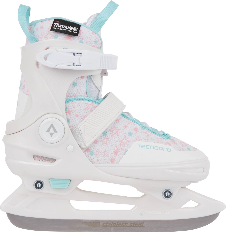Schlittschuhe - TecnoPro Flash Adj. Eishockeyschuh Girl (Größe 37.0 40.0, 900 white turquoise pink) - Onlineshop