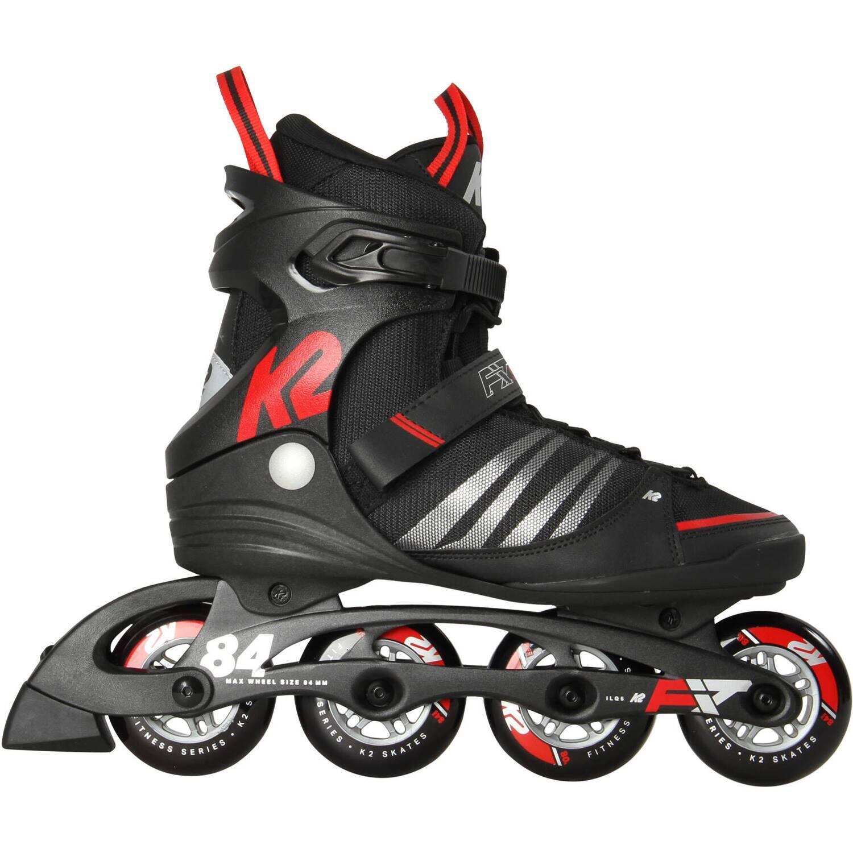 K2 F.I.T. 84 Speed Alu Man Inline Skates (Größe: 43.5 (US=10.0), black/red)