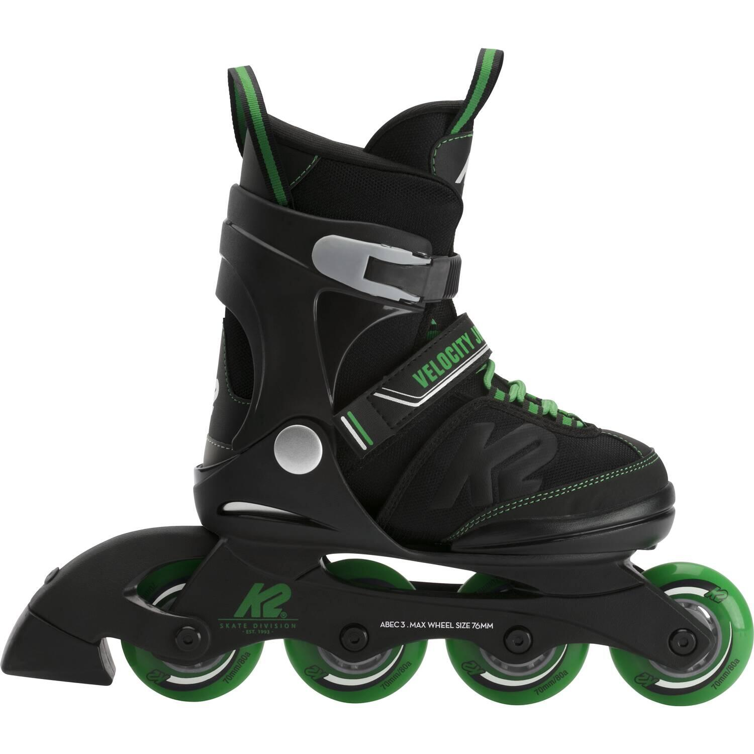 K2 Velocity Junior Boy Inliner (Größe 29.0 34.0, black green)