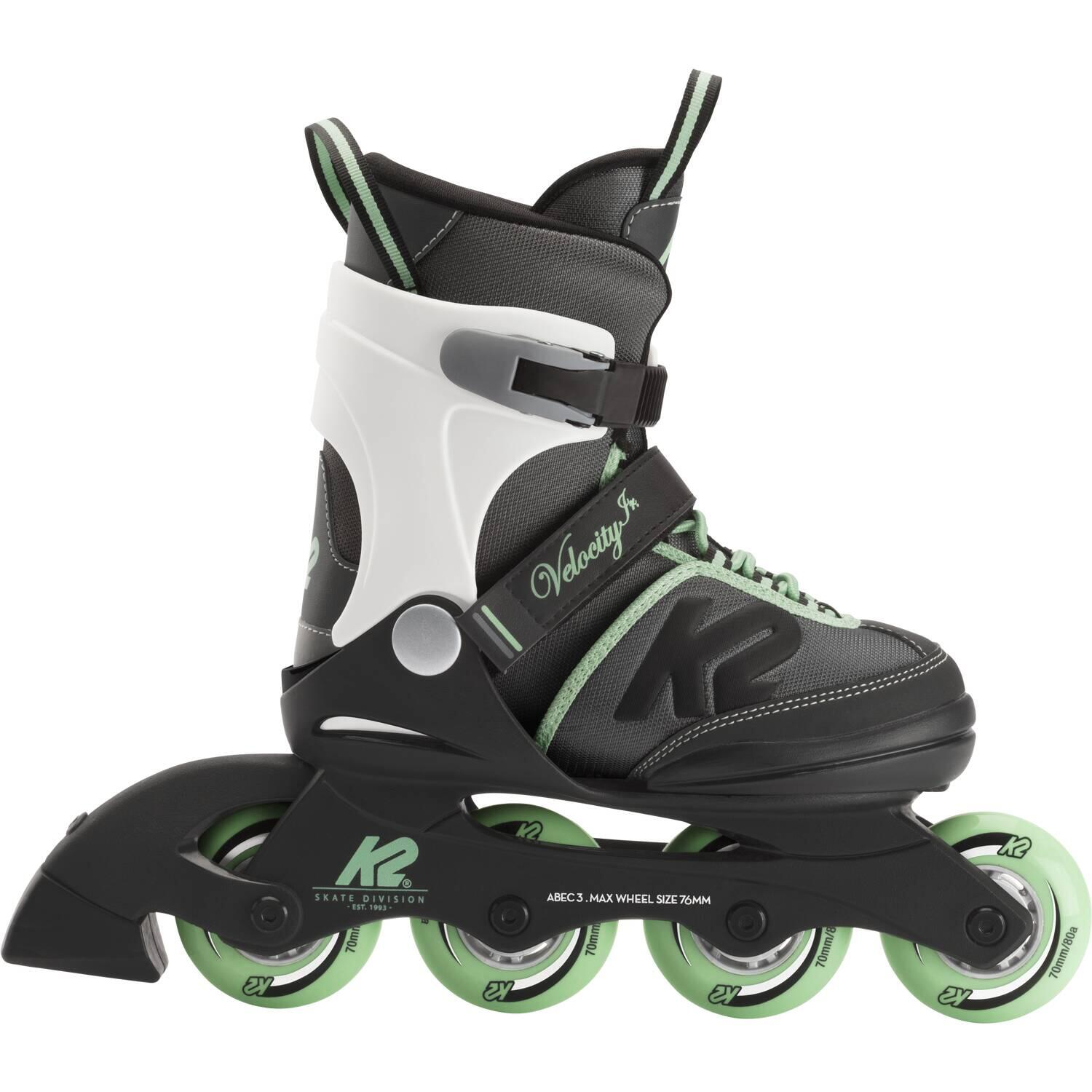 Inliner - K2 Velocity Junior Girl Inliner (Größe 35.0 40.0, black grey green) - Onlineshop
