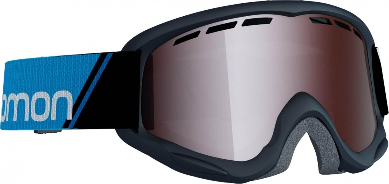Fürski - Salomon Juke Kinderskibrille (Farbe black, Scheibe tonic orange mirror silver) - Onlineshop