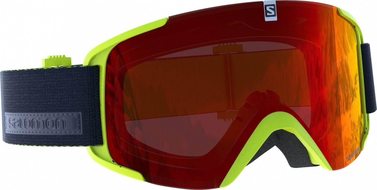 salomon-xview-allround-skibrille-farbe-acid-lime-scheibe-universal-red-