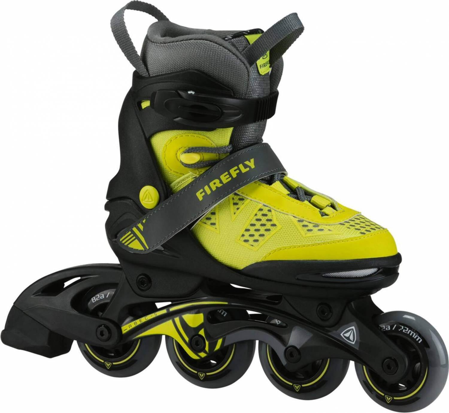 Inliner - Firefly Comp Adj Junior Inliner (Größe 37.0 40.0 (Rollen 76 mm), 900 yellow grey black) - Onlineshop