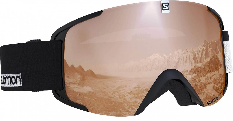 salomon-xview-access-allmountain-skibrille-farbe-black-white-scheibe-flash-tonic-orange-