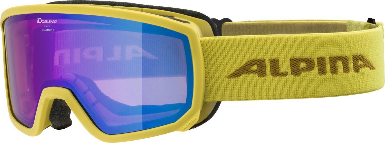 alpina-scarabeo-s-skibrille-mirror-farbe-841-curry-scheibe-mirror-blue-