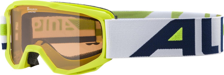 alpina-piney-sh-skibrille-farbe-471-lime-scheibe-singleflex-s2-