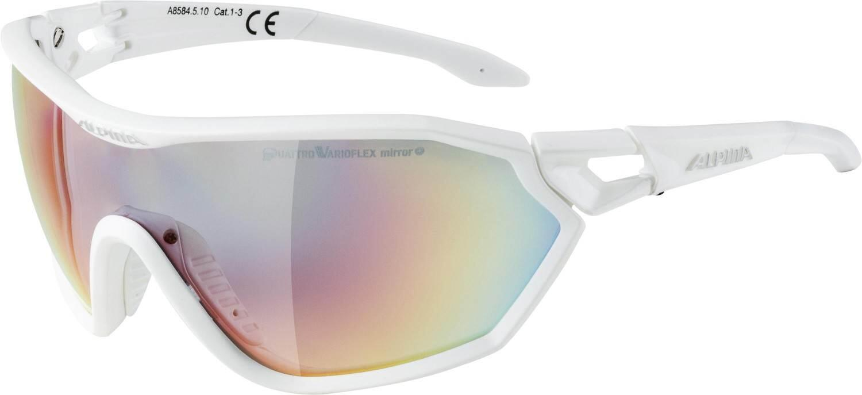 alpina-s-way-qvm-sportbrille-farbe-510-white-matt-quattrovarioflex-mirror-scheibe-rainbow-mirr