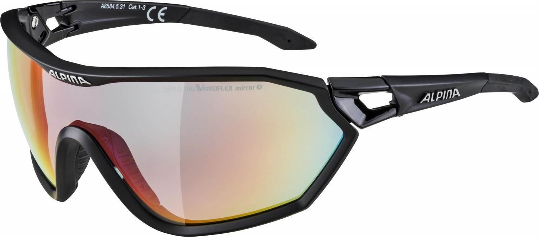 alpina-s-way-qvm-sportbrille-farbe-531-black-matt-quattrovarioflex-mirror-scheibe-rainbow-mirr
