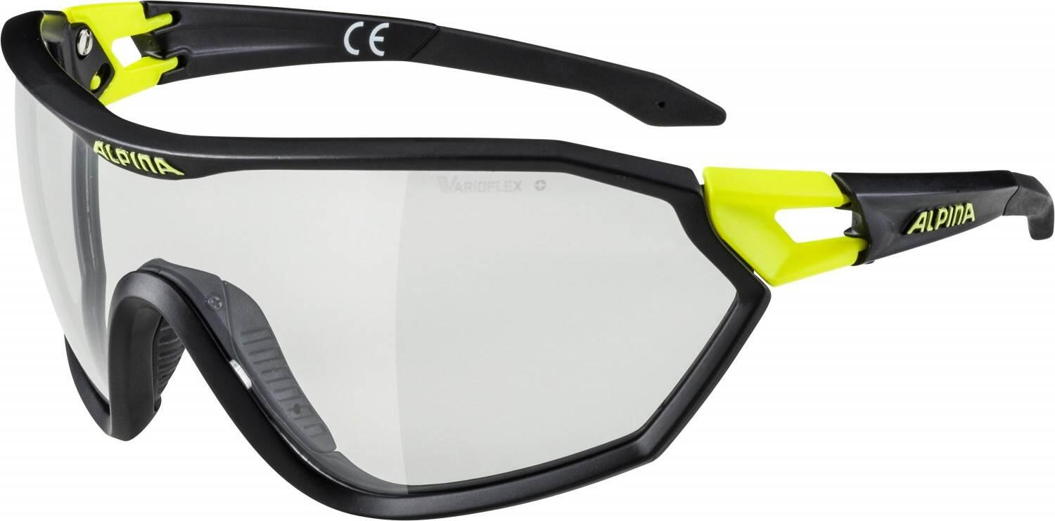 alpina-s-way-vl-sportbrille-farbe-135-black-matt-neon-yellow-varioflex-scheibe-black-s1-3-