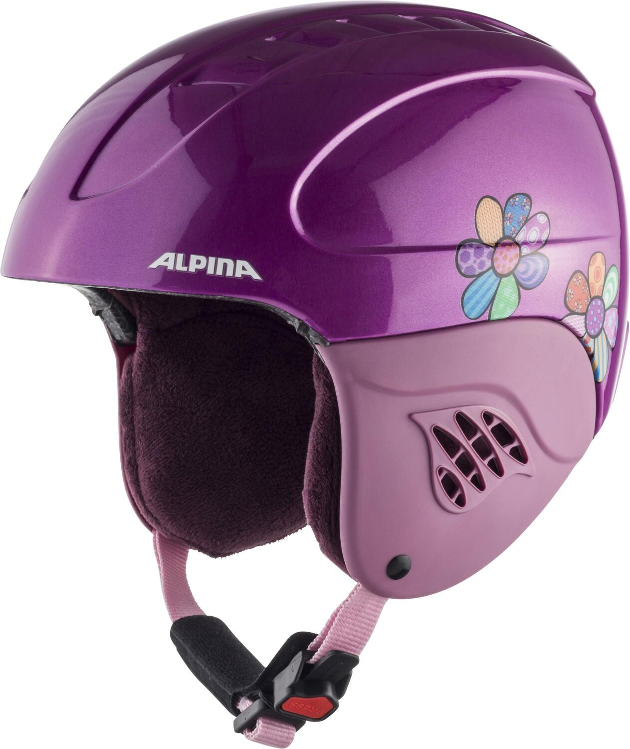 Fürski - Alpina Carat Kinder Skihelm (Größe 51 55 cm, 61 happy flowers) - Onlineshop