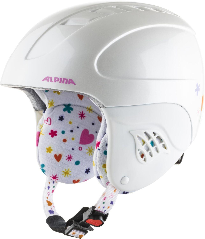Fürski - Alpina Carat Kinder Skihelm (Größe 51 55 cm, 62 white deko) - Onlineshop