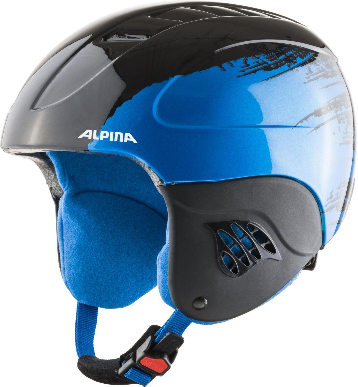 Fürski - Alpina Carat Kinder Skihelm (Größe 54 58 cm, 66 black blue gloss) - Onlineshop