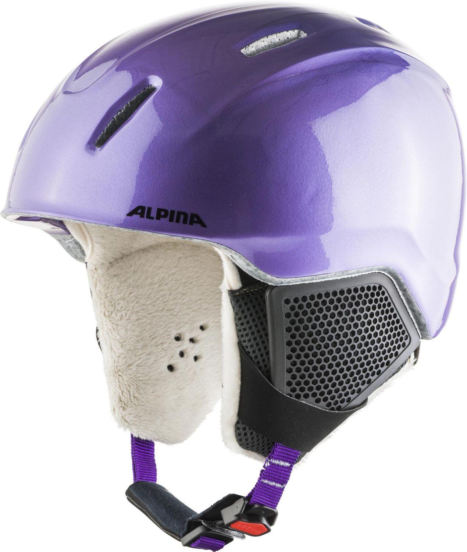 Alpina Carat LX Kinderskihelm (Größe 54 58 cm, 74 flip flop purple)