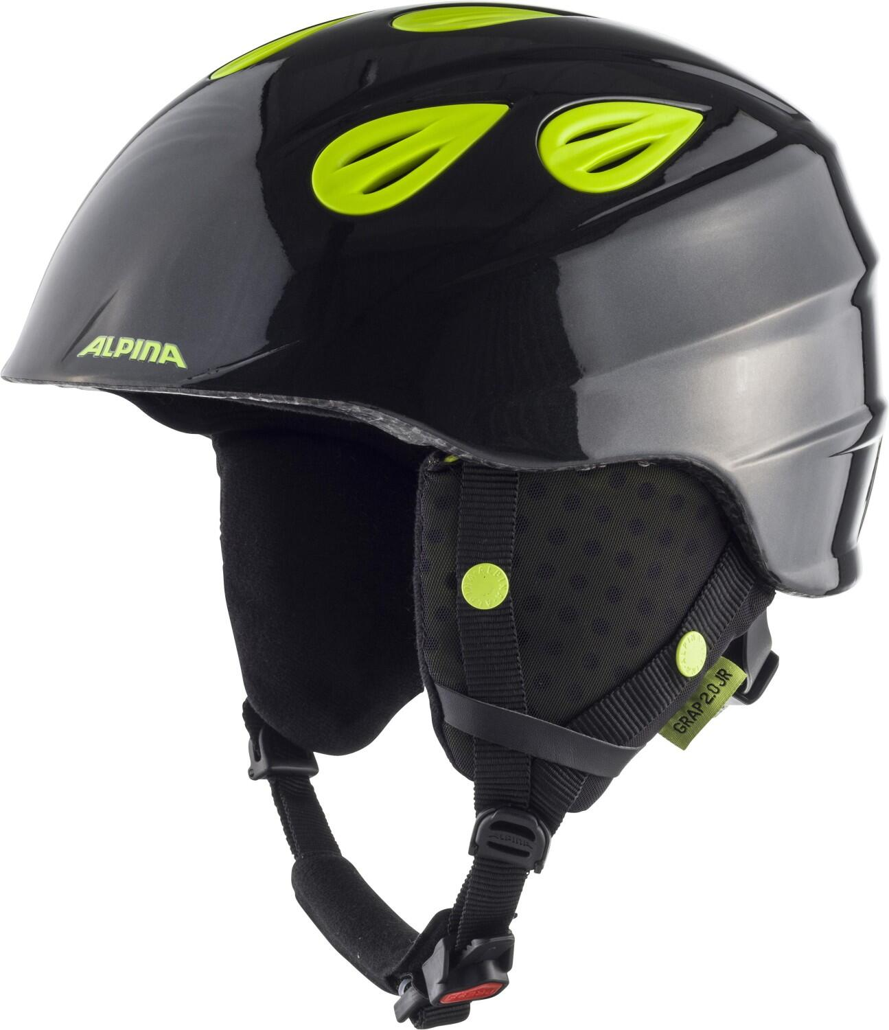 Fürski - Alpina Grap 2.0 Junior Kinderskihelm (Größe 51 54 cm, 36 charcoal neon yellow) - Onlineshop