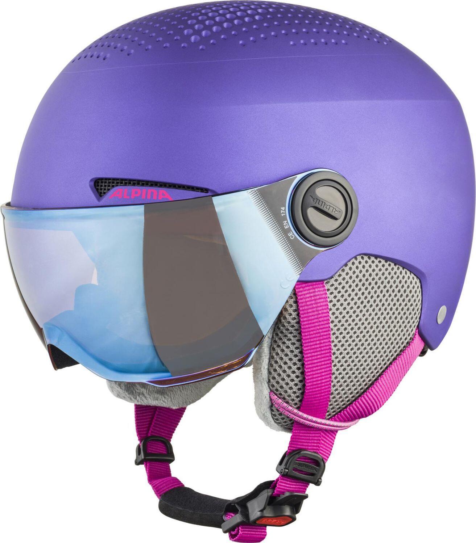 Fürski - Alpina Zupo Visor Kinderskihelm (Größe 54 58 cm, 61 violett matt) - Onlineshop