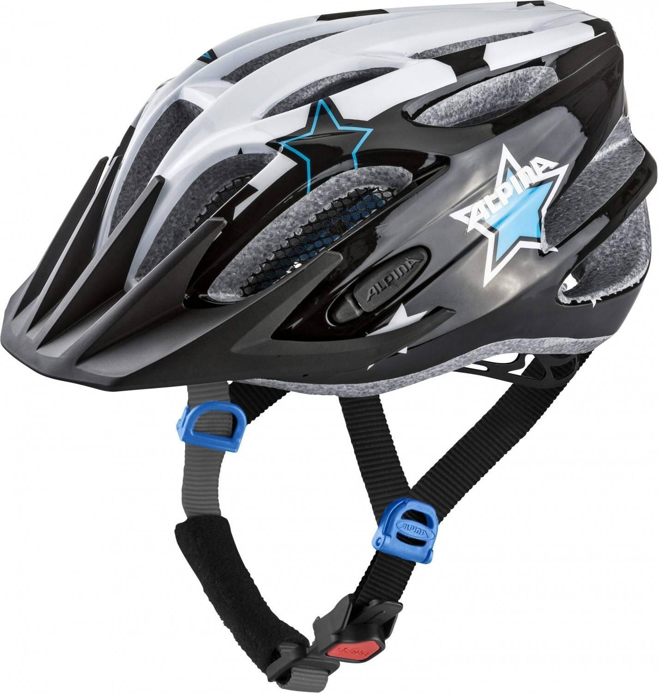 Fürfahrräder - Alpina Firebird Junior 2.0 Flash Radhelm (Größe 50 55 cm, 38 black white blue) - Onlineshop