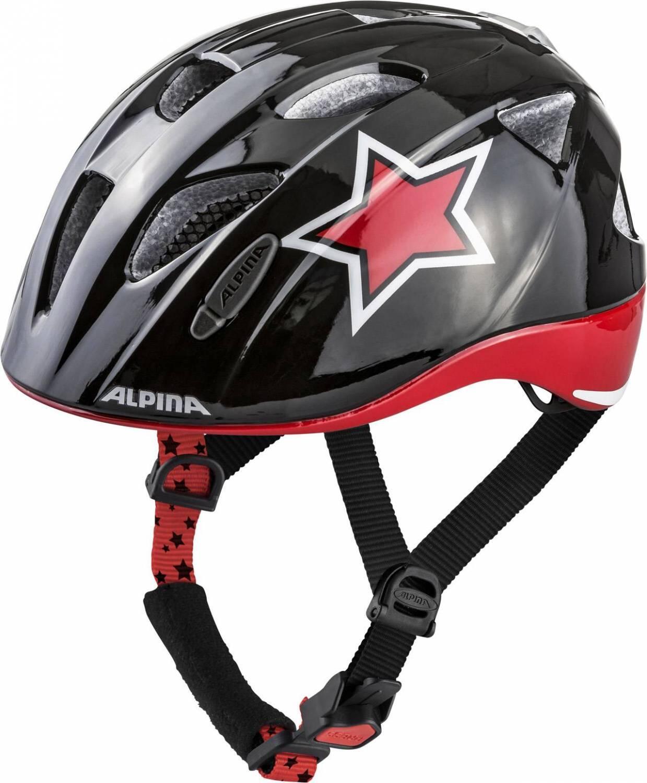 Fürfahrräder - Alpina Ximo Flash Kinderfahrradhelm (Größe 45 49 cm, 30 black red white star) - Onlineshop