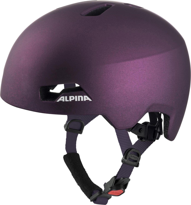 Fürfahrräder - Alpina Hackney Fahrradhelm (Größe 51 56 cm, 61 dark violett) - Onlineshop