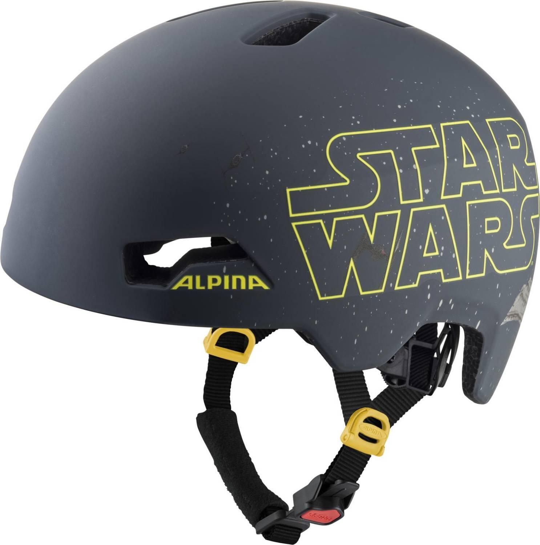 Fürfahrräder - Alpina Hackney Disney Fahrradhelm (Größe 47 51 cm, 30 Star Wars black) - Onlineshop