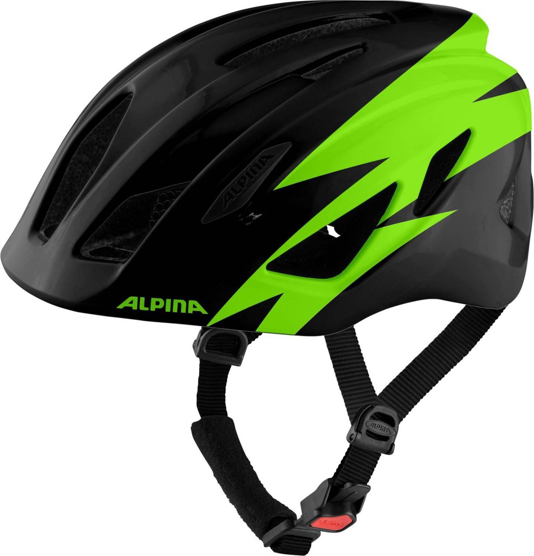 Alpina Pico Kinder Fahrradhelm (Größe 50 55 cm, 31 black green gloss)