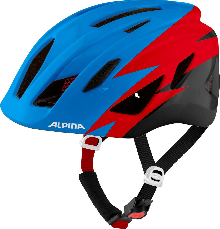 Alpina Pico Kinder Fahrradhelm (Größe 50 55 cm, 81 blue red black gloss)