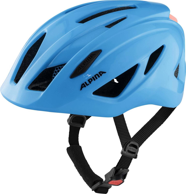 Alpina Pico Flash Kinder Fahrradhelm (Größe 50 55 cm, 41 neon blue gloss)