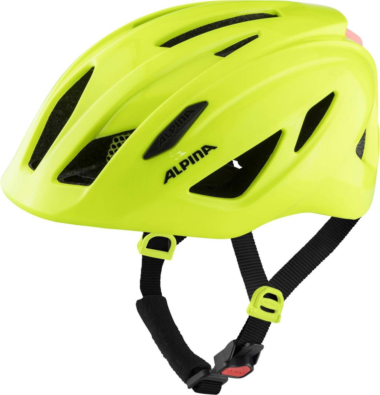 Alpina Pico Flash Kinder Fahrradhelm (Größe 50 55 cm, 50 be visible gloss)