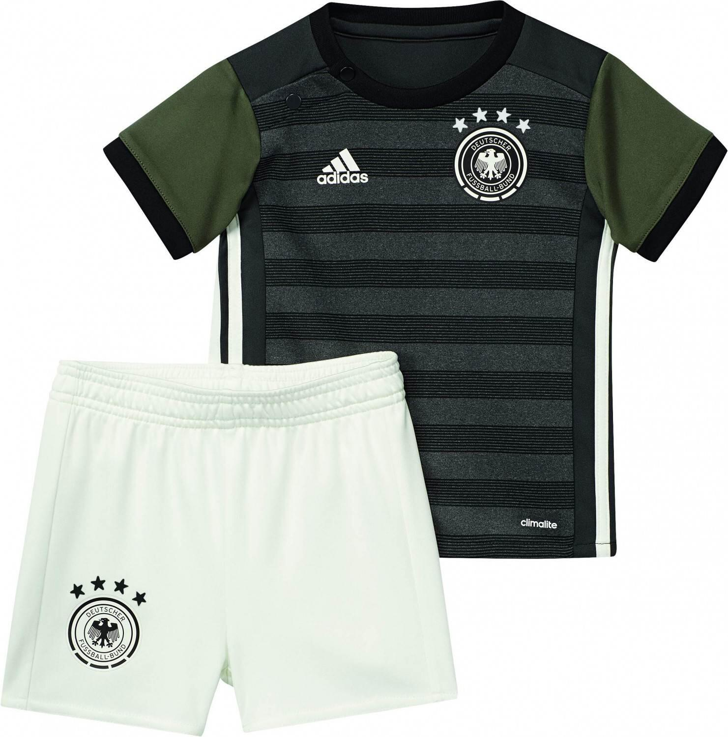 Babysets - adidas DFB Away Baby Kit Auswärtsset (Größe 74, dark grey heather off white base green s15) - Onlineshop Sportolino