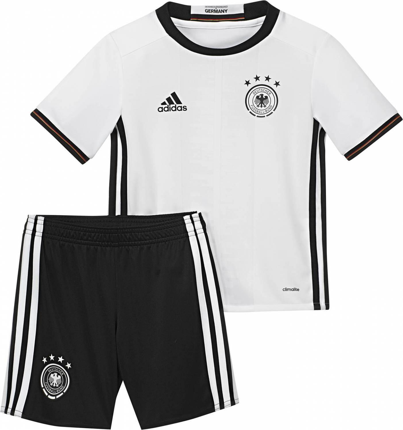 Miniboyssportmode - adidas DFB Home Mini Kit Set EM 2016 (Größe 116, white black) - Onlineshop Sportolino