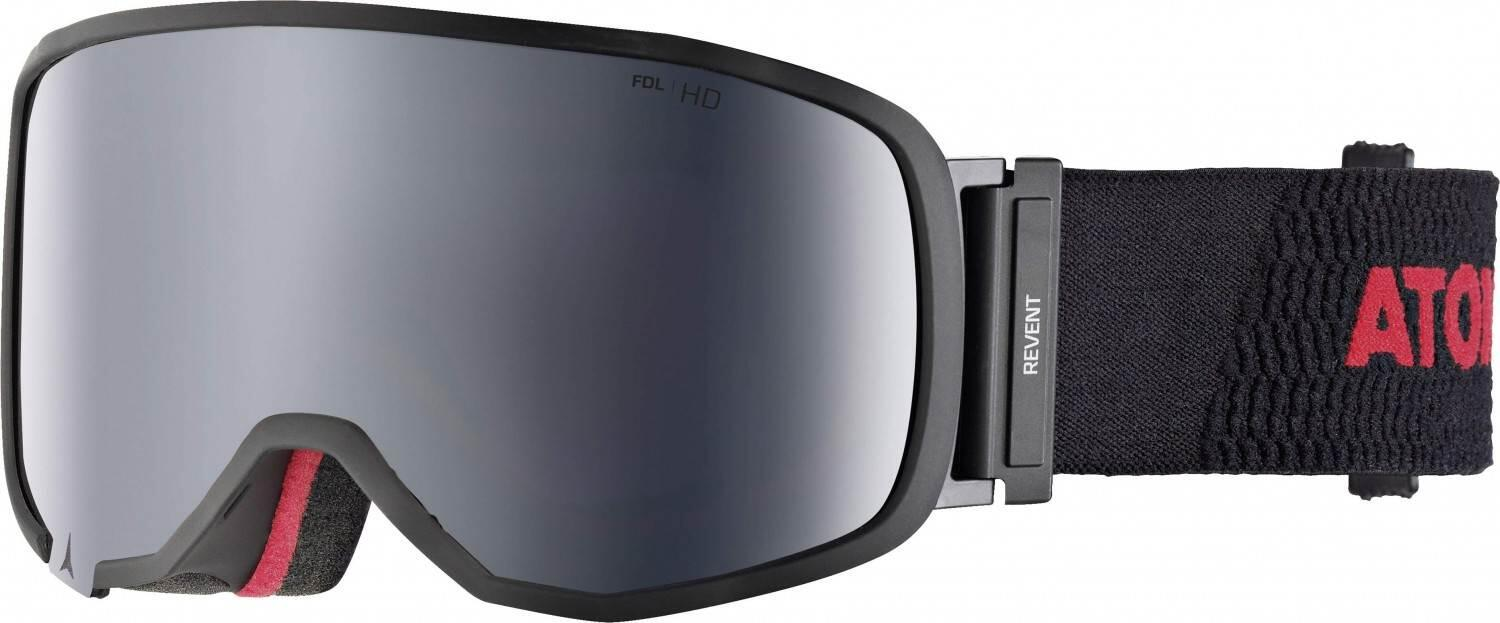 atomic-revent-small-racing-skibrille-farbe-black-red-scheibe-silver-stereo-hd-