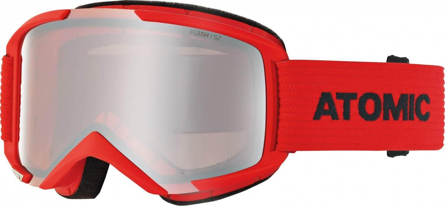 atomic-savor-skibrille-medium-farbe-red-blue-scheibe-silver-flash-