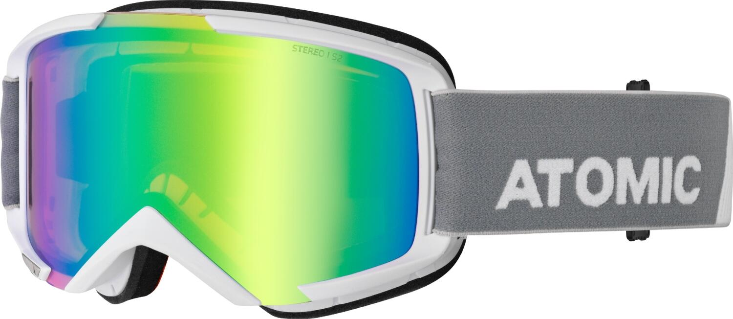 atomic-savor-stereo-brillentr-auml-ger-skibrille-med-farbe-white-scheibe-yellow-stereo-