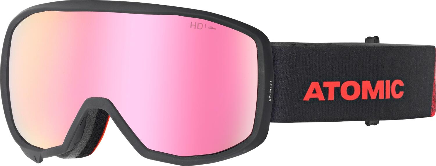 atomic-count-hd-junior-skibrille-farbe-black-red-scheibe-pink-copper-hd-