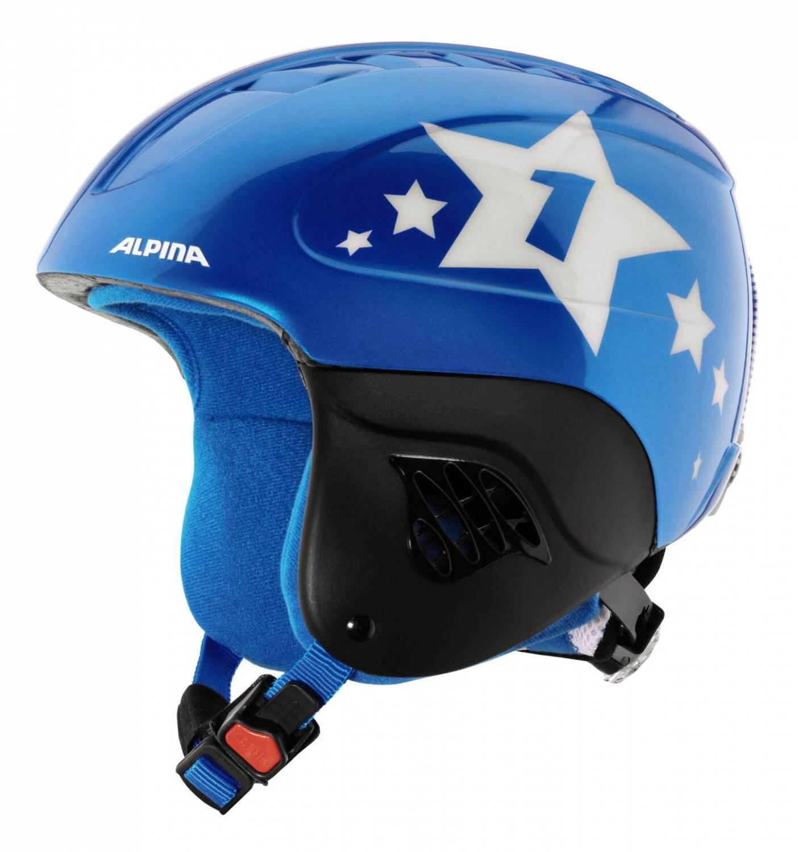 Fürski - Alpina Carat Kinder Skihelm (Größe 48 52 cm, 80 blue star) - Onlineshop