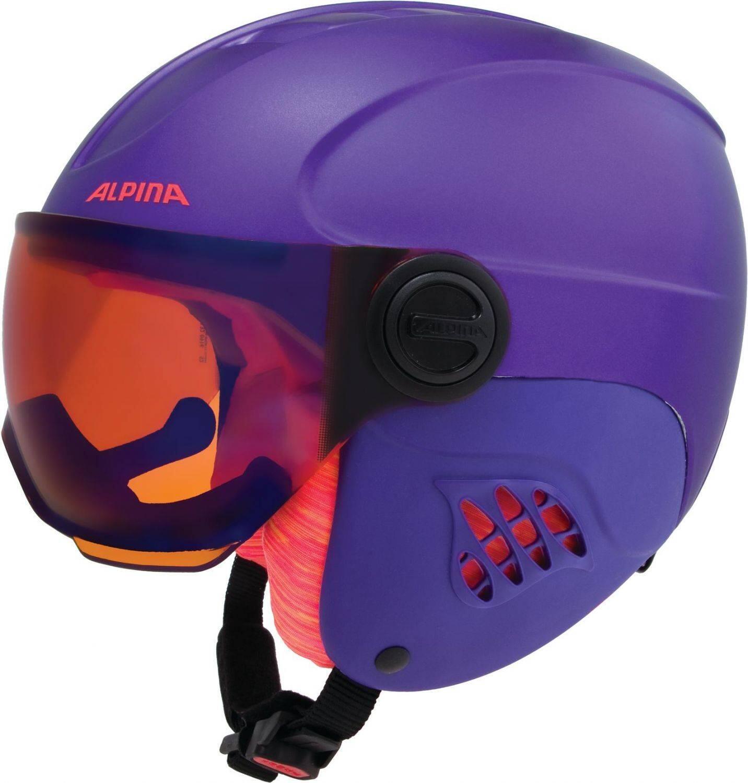 Fürski - Alpina Carat Le Visor Kinderskihelm (Größe 54 58 cm, 52 royal purple matt) - Onlineshop
