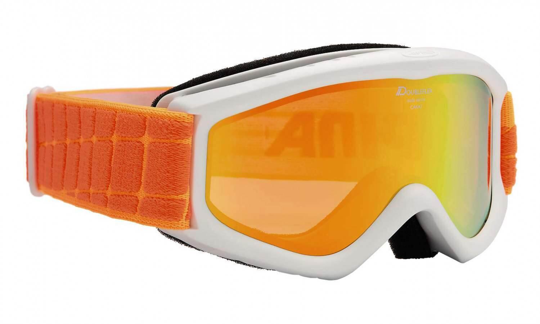 Fürski - Alpina Carat D Multimirror Kinderskibrille (Farbe 811 weiß orange, Scheibe MULTIMIRROR, orange) - Onlineshop